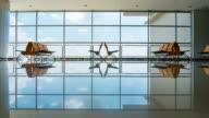 4K Time-lapsed LS of airport terminal in surabaya airport, Surabaya, Indonesia video