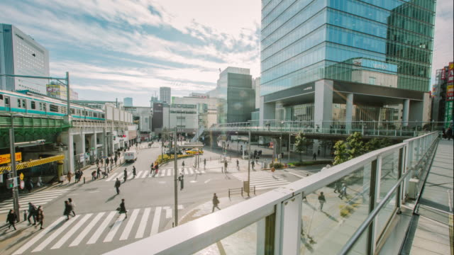 4K Time-lapsed of Akihabara Japan Railway station is situated in the center of Otaku district and always crowded with people from all over the world video