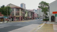 4K Time-lapsed of China town district where is decorated in ancient style building, Singapore video