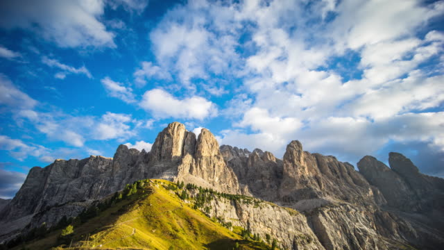 Timelapse:Day to Dusk mountain Garneda italy video