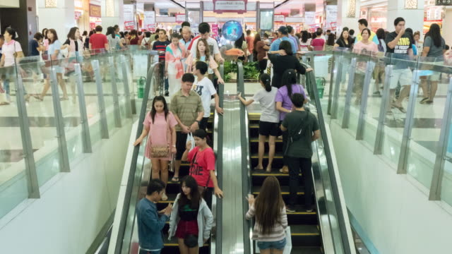 Timelapse:Escalator in a mall video