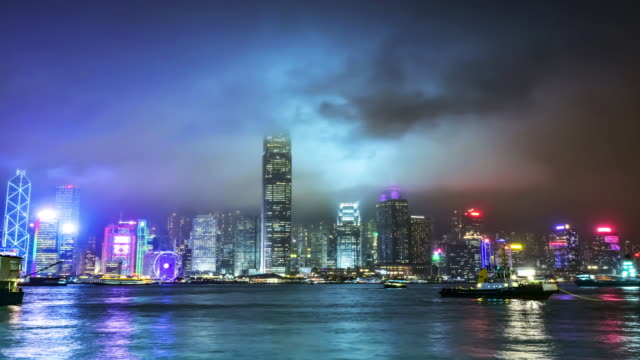 4K Time-Lapse.Hong Kong Victoria Harbour video