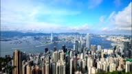 HD Time-lapse:Hongkong of from Victoria peak video