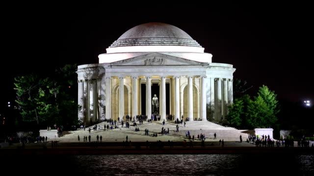 HD Time-lapse:Jefferson Memorial in Washington DC video