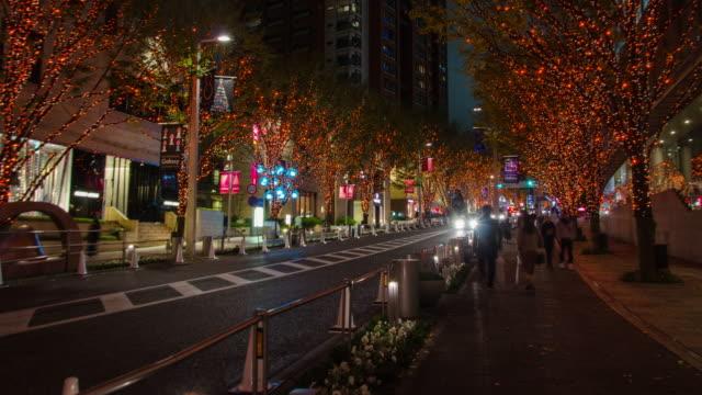 4K Time-lapse:Keyakizaka Street at Roppongi in Tokyo , Japan video