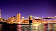 HD Time-lapse:Manhattan and Brooklyn Bridge video
