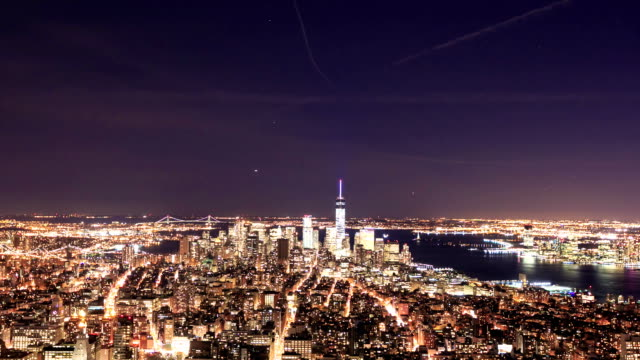 HD Time-lapse:Manhattan to night, New York video