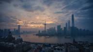 Timelapse-modern cityscape and skyline of Shanghai video