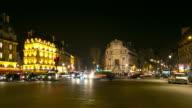 4K Timelapse:Paris night at St Michel Church, France video