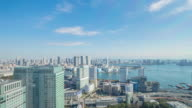 4K Time-lapse:Tokyo cityscape near the harbour in Tokyo(zoom in) video