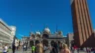 Timelapse:Tourist Visiting St. Mark's Square video