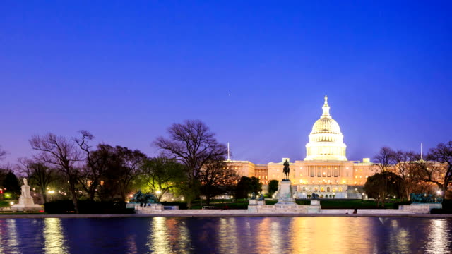 HD Time-lapse:U.S Capitol in Washington DC video