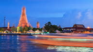 4K Time-lapse:Wat Arun or The Temple of Dawn, Bangkok, Thailand video