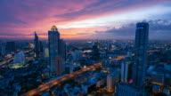 Timelpase - Bangkok sunset video