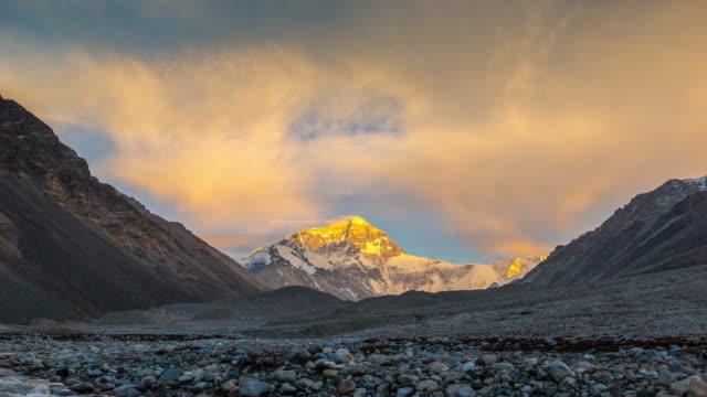Timelpase Sunset Scenec of Mt. Everest, Himalayas video