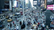Times Square at busy time, Manhattan, New York, USA video