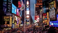 Times Square at night, New York video