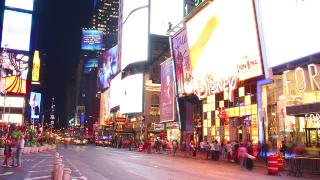 times square broadway walking part 4k time lapse new york usa video
