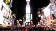 Times Square in New York City Pan Up video