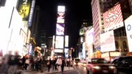 Times Square in New York City Time Lapse video