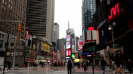 Times Square in New York City video