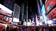 Times square in NYC video