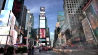 Times Square in the morning video