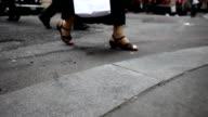 Times Square sidewalk video