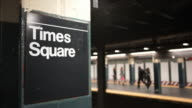 Times Square Subway video