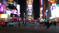 Times Square Tilt Shift video