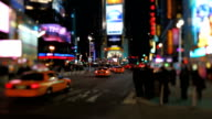 Times Square Tilt Shift video