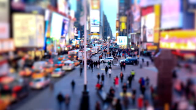 Times Square Time Lapse Tilt Shift video