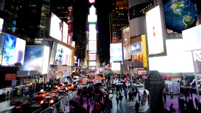 Times Square, time lapse. video