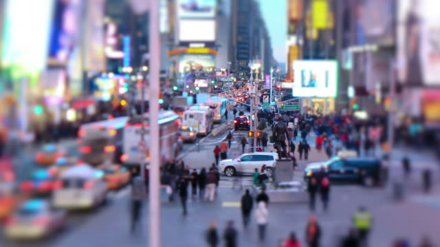 Times Square Time Lapse Zoom Tilt Shift video