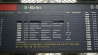 Timetable timelapse at Zurich Main Train Station video