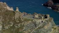 Tintagel  - Aerial View - England, Cornwall, United Kingdom video