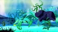 Tiny Hippo Underwater UHD video