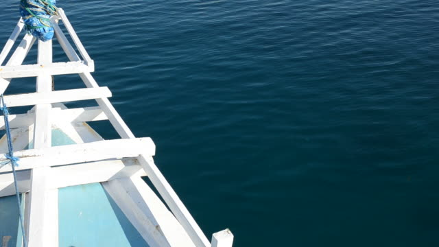 Tip of a boat on sunny weather video