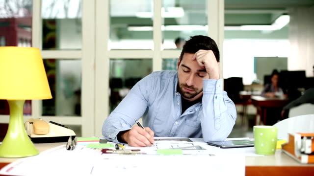 Tired businessman video