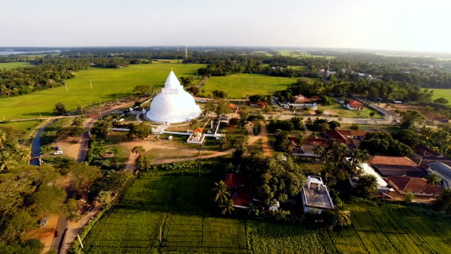 Tissamaharama Stupa from air video