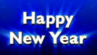 Title 3D text Happy New Year video