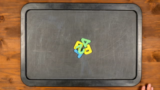 Title part two stop motion animation with foam letters video