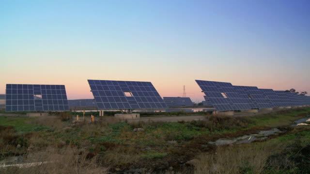 T/lapse Sunrise of Solar Farm video