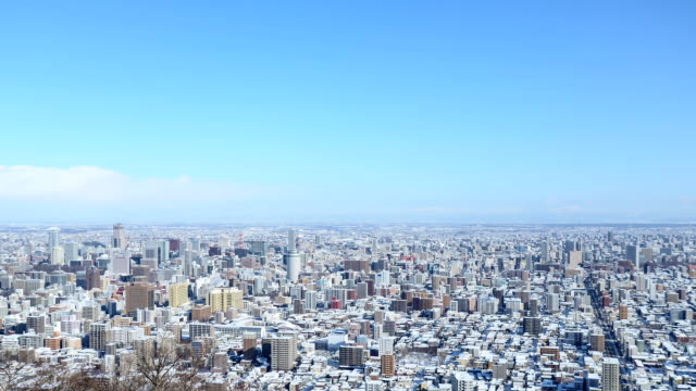 Tme Lapse of Sapporo in Winter video