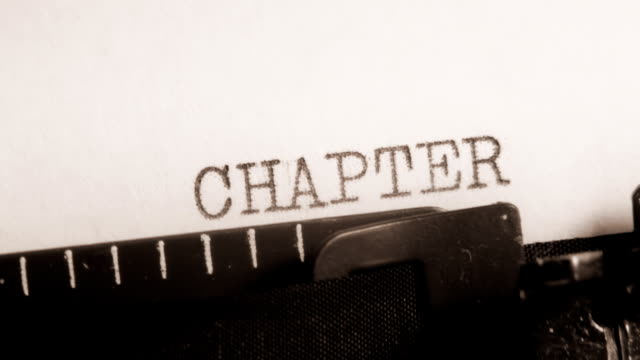CHAPTER 9 to 10. Writing of the book on typewriter. video
