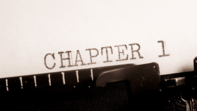 CHAPTER 1 to 4. Writing of the book on typewriter. video