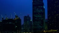 4K TIME LAPSE NIGHT to DAY (4096x2160) : The cityscape at Singapore (Apple ProRes. 422(HQ)) video