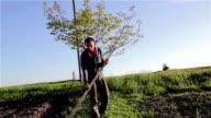 to mow grass man video