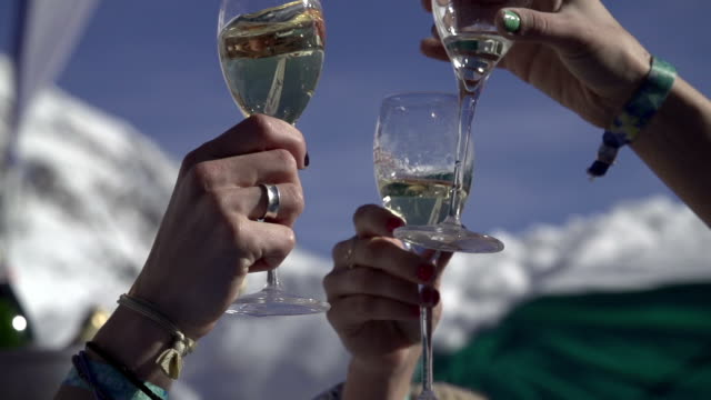 Toasting in the mountains video
