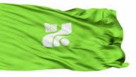 Tochigi Prefecture Isolated Waving Flag video
